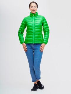Купить оптом женскую зимний пуховик еврозима зеленого цвета в интернет магазине MTFORCE 32120Z