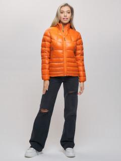 Купить оптом женскую зимний пуховик еврозима оранжевого цвета в интернет магазине MTFORCE 32121O