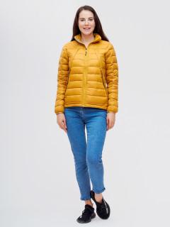 Купить оптом женскую зимний пуховик еврозима желтого цвета в интернет магазине MTFORCE 32122J