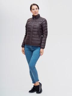 Купить оптом женскую зимний пуховик еврозима коричневого цвета в интернет магазине MTFORCE 32122K