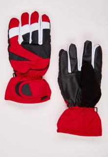 Купить оптом перчатки подростковые горнолыжные красного цвета 323Kr в интернет магазине MTFORCE.RU