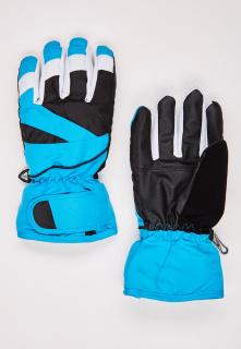 Купить оптом перчатки подростковые горнолыжные голубого цвета 323Gl в интернет магазине MTFORCE.RU