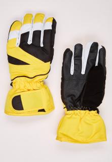 Купить оптом перчатки подростковые горнолыжные желтого цвета 323J в интернет магазине MTFORCE.RU