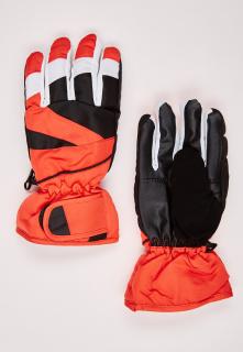 Купить оптом перчатки подростковые горнолыжные оранжевого цвета 323O в интернет магазине MTFORCE.RU