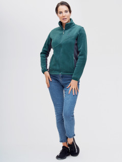 Купить оптом толстовку женскую утепленную темно-зеленого цвета 92602-1TZв интернет магазине MTFORCE.RU