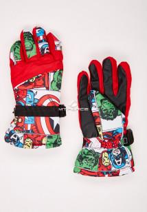 Купить оптом перчатки подростковые горнолыжные красного цвета 327Kr в интернет магазине MTFORCE.RU