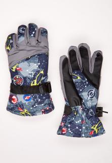 Купить оптом перчатки подростковые горнолыжные серого цвета 327Sr в интернет магазине MTFORCE.RU