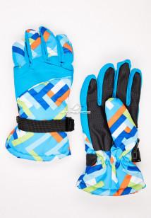 Купить оптом перчатки подростковые горнолыжные голубого цвета 327Gl в интернет магазине MTFORCE.RU
