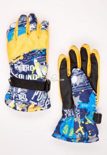 Купить оптом перчатки подростковые горнолыжные желтого цвета 327J в интернет магазине MTFORCE.RU
