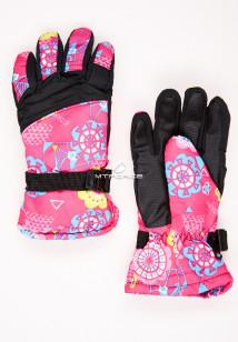 Купить оптом перчатки подростковые горнолыжные розового цвета 327R в интернет магазине MTFORCE.RU