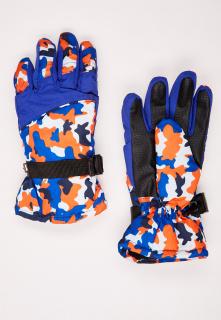 Купить оптом перчатки подростковые горнолыжные синего цвета 327S в интернет магазине MTFORCE.RU