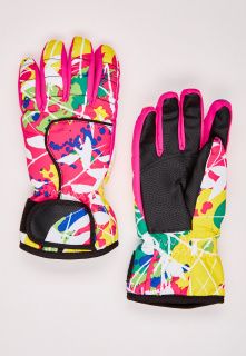 Купить оптом перчатки горнолыжные подростковые для девочки розового цвета 329R в интернет магазине MTFORCE.RU
