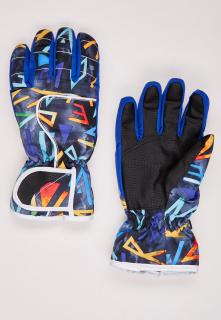 Купить оптом перчатки горнолыжные подростковые для девочки синего цвета 329S в интернет магазине MTFORCE.RU