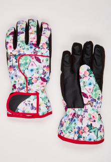 Купить оптом перчатки горнолыжные подростковые для девочки салатового цвета 329Sl в интернет магазине MTFORCE.RU