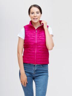 Купить оптом жилетка женскую стеганную утепленная розового цвета 33311R в интернет магазине MTFORCE.RU