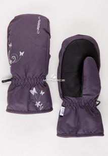 Купить оптом рукавицы зимние подростковые для девочки темно-серого цвета 344TC в интернет магазине MTFORCE.RU