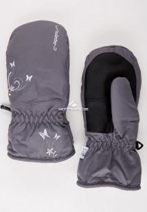 Купить оптом рукавицы зимние подростковые для девочки серого цвета 344Sr в интернет магазине MTFORCE.RU