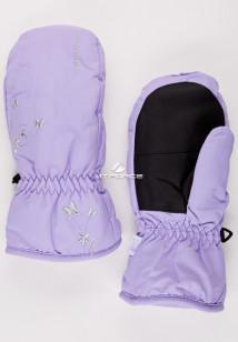 Купить оптом рукавицы зимние подростковые для девочки фиолетового цвета 344F в интернет магазине MTFORCE.RU
