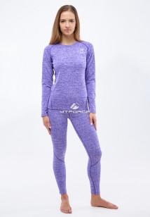Термобелье круглогодичное фиолетового цвета купить оптом в интернет магазине MTFORCE 3478F