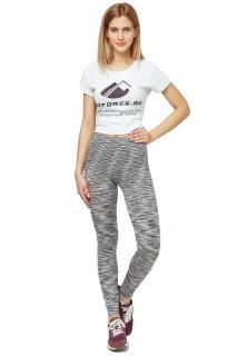 Купить оптом брюки легинсы женские серого цвета 3481Sr  в интернет магазине MTFORCE.RU