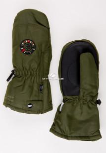 Купить оптом рукавицы зимние детские цвета хаки 357Kh в интернет магазине MTFORCE.RU