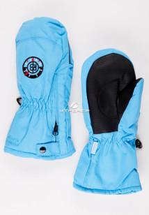 Купить оптом рукавицы зимние детские голубого цвета 357Gl в интернет магазине MTFORCE.RU