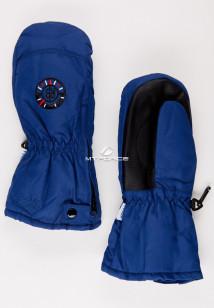 Купить оптом рукавицы зимние детские темно-синего цвета 357TS в интернет магазине MTFORCE.RU