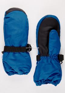 Купить оптом рукавицы зимние детские однотонные синего цвета 377S в интернет магазине MTFORCE.RU