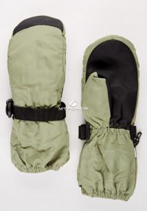 Купить оптом рукавицы зимние детские однотонные цвета хаки 377Kh в интернет магазине MTFORCE.RU