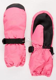 Купить оптом рукавицы зимние детские однотонные розового цвета 377R в интернет магазине MTFORCE.RU