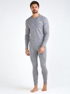 Термобелье мужское серого цвета купить оптом в интернет магазине MTFORCE 3795Sr