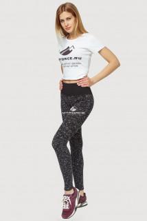 Купить оптом брюки легинсы женские черного цвета 3907Ch  в интернет магазине MTFORCE.RU