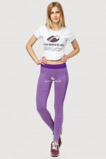 Купить оптом брюки легинсы женские фиолетового цвета 3917F  в интернет магазине MTFORCE.RU