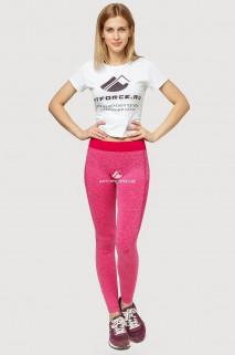 Купить оптом брюки легинсы женские розового цвета 3917R  в интернет магазине MTFORCE.RU