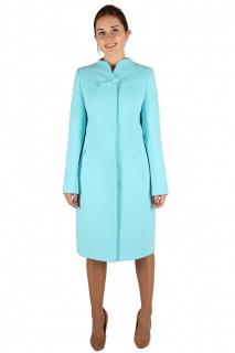 Купить оптом пальто женское голубого цвета 391Gl в интернет магазине MTFORCE.RU