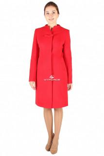 Купить оптом пальто женское красного цвета 391Kr в интернет магазине MTFORCE.RU