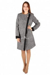 Купить оптом пальто женское серого цвета 394Sr в интернет магазине MTFORCE.RU