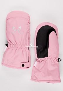 Купить оптом рукавицы зимние детские розового цвета 396R в интернет магазине MTFORCE.RU