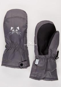 Купить оптом рукавицы зимние детские темно-серого цвета 396TC в интернет магазине MTFORCE.RU