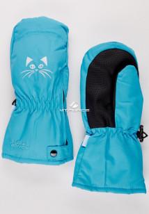 Купить оптом рукавицы зимние детские голубого цвета 396Gl в интернет магазине MTFORCE.RU