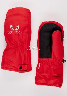 Купить оптом рукавицы зимние детские красного цвета 396Kr в интернет магазине MTFORCE.RU