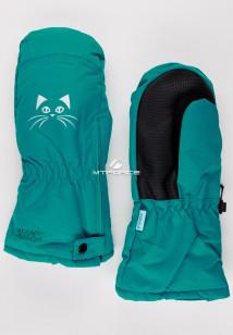 Купить оптом рукавицы зимние детские зеленого цвета 396Z в интернет магазине MTFORCE.RU