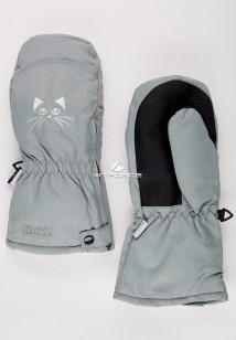 Купить оптом рукавицы зимние детские серого цвета 396Sr в интернет магазине MTFORCE.RU