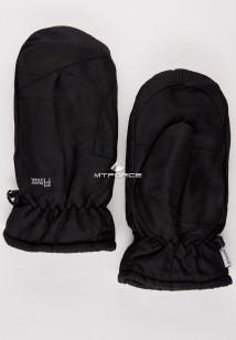 Купить оптом рукавицы зимние подросковые черного цвета 399Ch в интернет магазине MTFORCE.RU