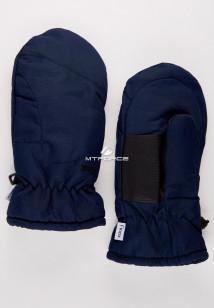 Купить оптом рукавицы зимние подросковые темно-синего 399TS в интернет магазине MTFORCE.RU