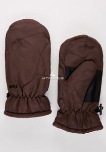 Купить оптом рукавицы зимние подросковые коричневого цвета 399K в интернет магазине MTFORCE.RU