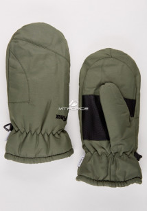 Купить оптом рукавицы зимние подросковые цвета хаки 399Kh в интернет магазине MTFORCE.RU