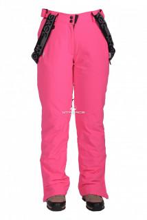 Купить оптом брюки горнолыжные женские розового цвета 403-1R в интернет магазине MTFORCE.RU