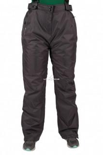 Купить оптом брюки большого размера горнолыжные женские серого цвета 411Sr в интернет магазине MTFORCE.RU