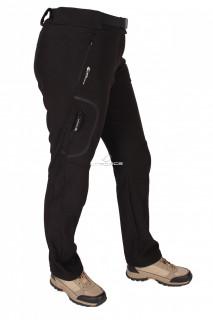 Купить оптом брюки виндстоппе черного цвета  412Ch в интернет магазине MTFORCE.RU